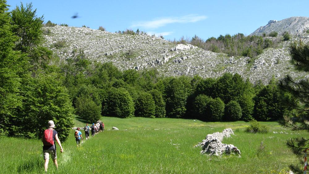 Na poti proti mavzoleju, nacionalni park Lovčen, Črna gora